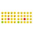 78 smileys vector image vector image