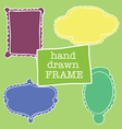a set of four frames of different shapes vector image vector image