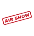 Air Show Text Rubber Stamp vector image vector image