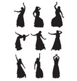 belly dancer silhouettes vector image