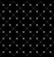 black and white seamless pattern dots and flowers vector image vector image