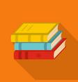 book school icon flat style vector image