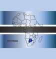botswana isolated on map vector image