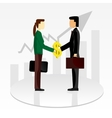 business shaking hands vector image