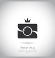 camera icon in trendy flat style isolated on grey vector image vector image