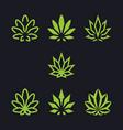 cannabis as a collection vector image vector image