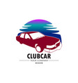 car club logo vector image