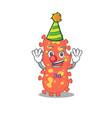 cartoon character design concept cute clown vector image vector image