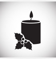 christmas candle on white background vector image