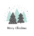 christmas greeting gard cute hand drawn vector image vector image