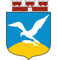 coat of arms of sopot in pomeranian voivodeship vector image vector image