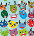 Cute cartoon muzzle Monsters seamless pattern on vector image vector image