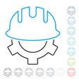 development helmet line icon vector image vector image