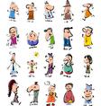 Doodle people cartoon set