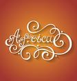 Fancy lettering design vector image vector image