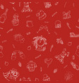 hand drawn seamless winter pattern happy new year vector image vector image