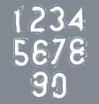 Handwritten white contemporary digit set doodle vector image vector image