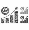 happy growing trend composition icon rough vector image vector image