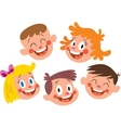 Happy kids faces vector image vector image