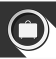 icon - suitcase with shadow vector image vector image