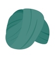Indian Headgear Turban icon isometric 3d style vector image vector image