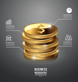 Infographic Gold Coin Business Template vector image vector image