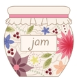 Jam jar vinatage vector image vector image