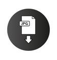 jpeg download icon vector image