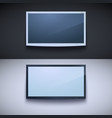 led tv hanging on wall vector image vector image
