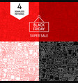 line black friday patterns vector image vector image