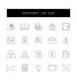line icons set investment pack vector image vector image