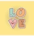 love comic pop art style vector image vector image