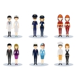 Male and female professional character set vector image vector image