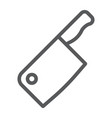 meat cleaver knife line icon kitchen and cooking vector image vector image