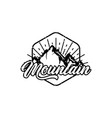 mountain adventure badges vector image vector image