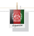 photo afghanistan flag vector image