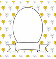 photo frame with light bulbs on white background vector image vector image