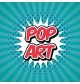 pop art vintage vector image