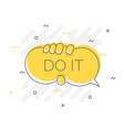 quick tips badge with do it speech bubble trendy vector image vector image