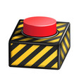 red panic button sign red alarm shiny vector image vector image