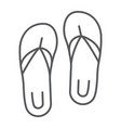 sandals thin line icon footwear and beach flip vector image vector image
