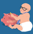 Saving for retirement vector image