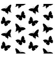 seamless pattern silhouette butterfly vector image