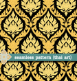seamless pattern -thai art vector image