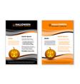 seasonal autumn halloween document templates vector image vector image