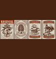 set colour posters on theme nautical vector image vector image