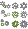 set gears with six different gears vector image vector image