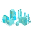 Set major plant factory isometry vector image vector image
