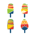 Set of cartoonish ice cream vector image vector image