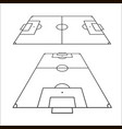 sketch of soccer fields set football field design vector image
